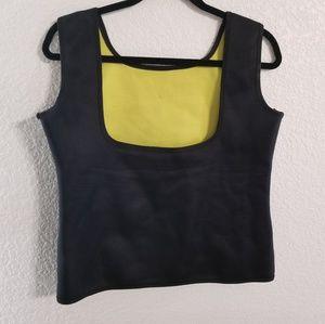 Workout Neoprene Sweat Vest Black Lemon